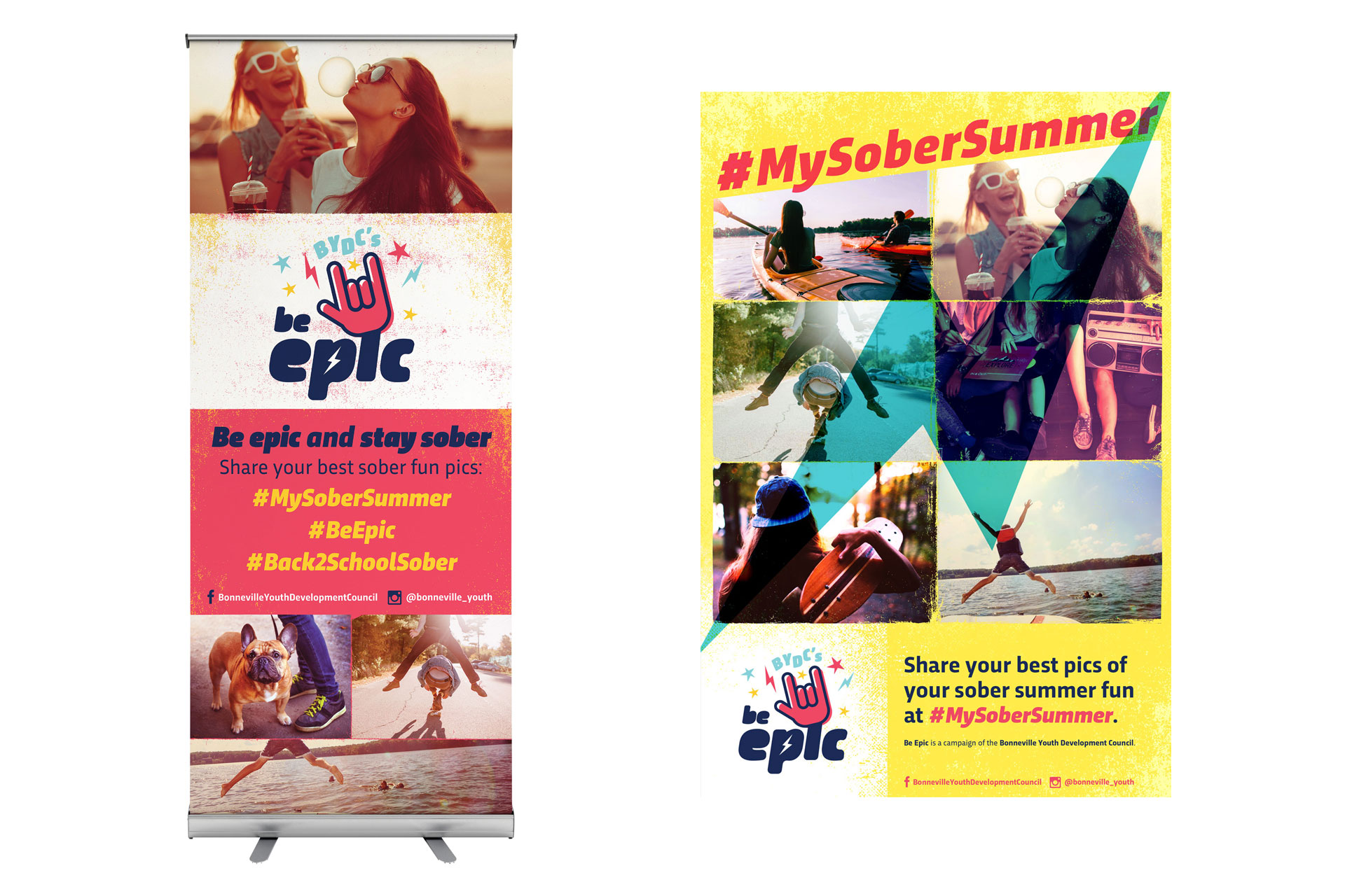 BYDC banner and poster for Be Epic campaign