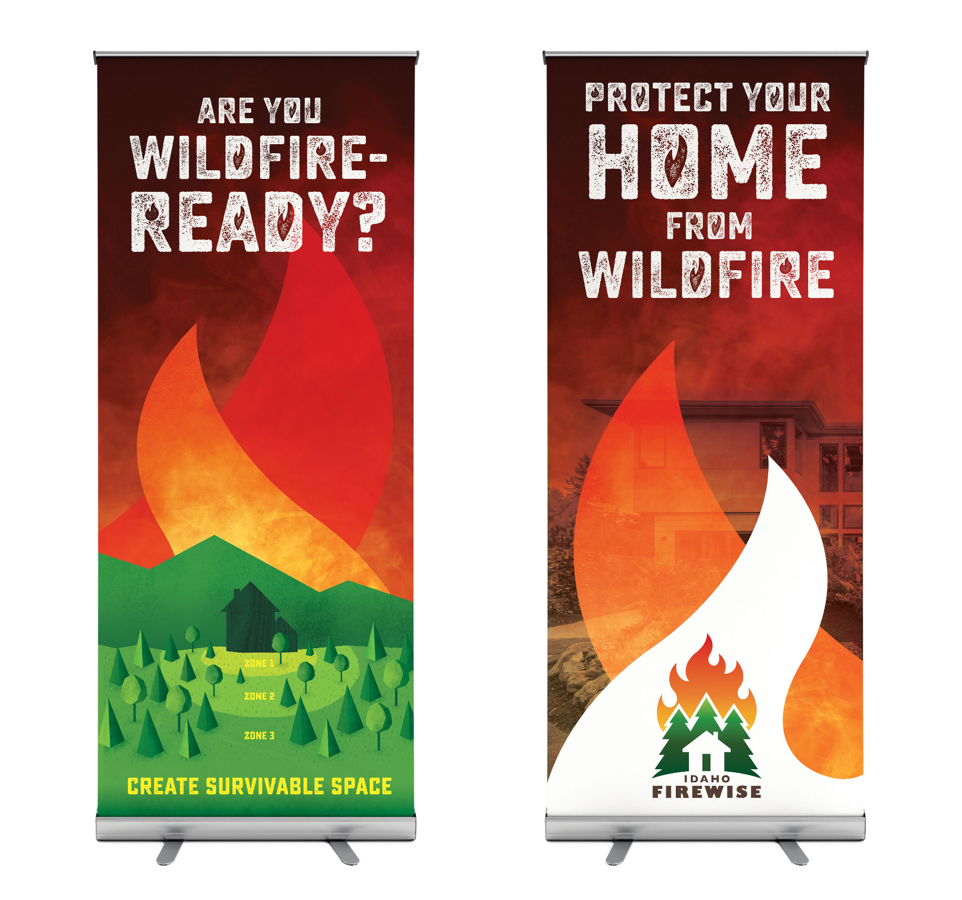 Idaho Firewise roll up banners
