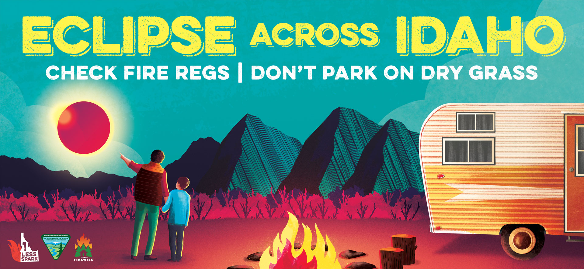 Idaho Firewise & BLM Eclipse billboard