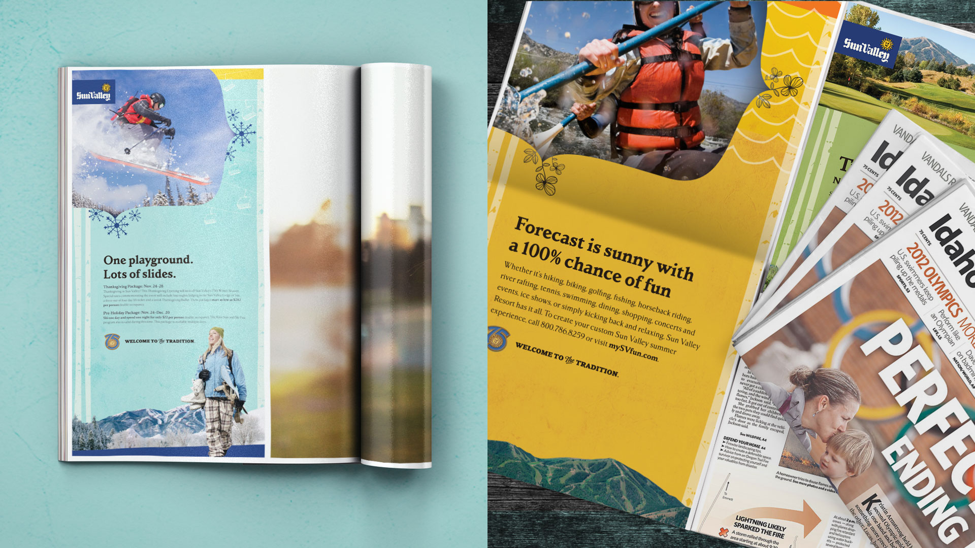 Sun Valley Resort magazine ads
