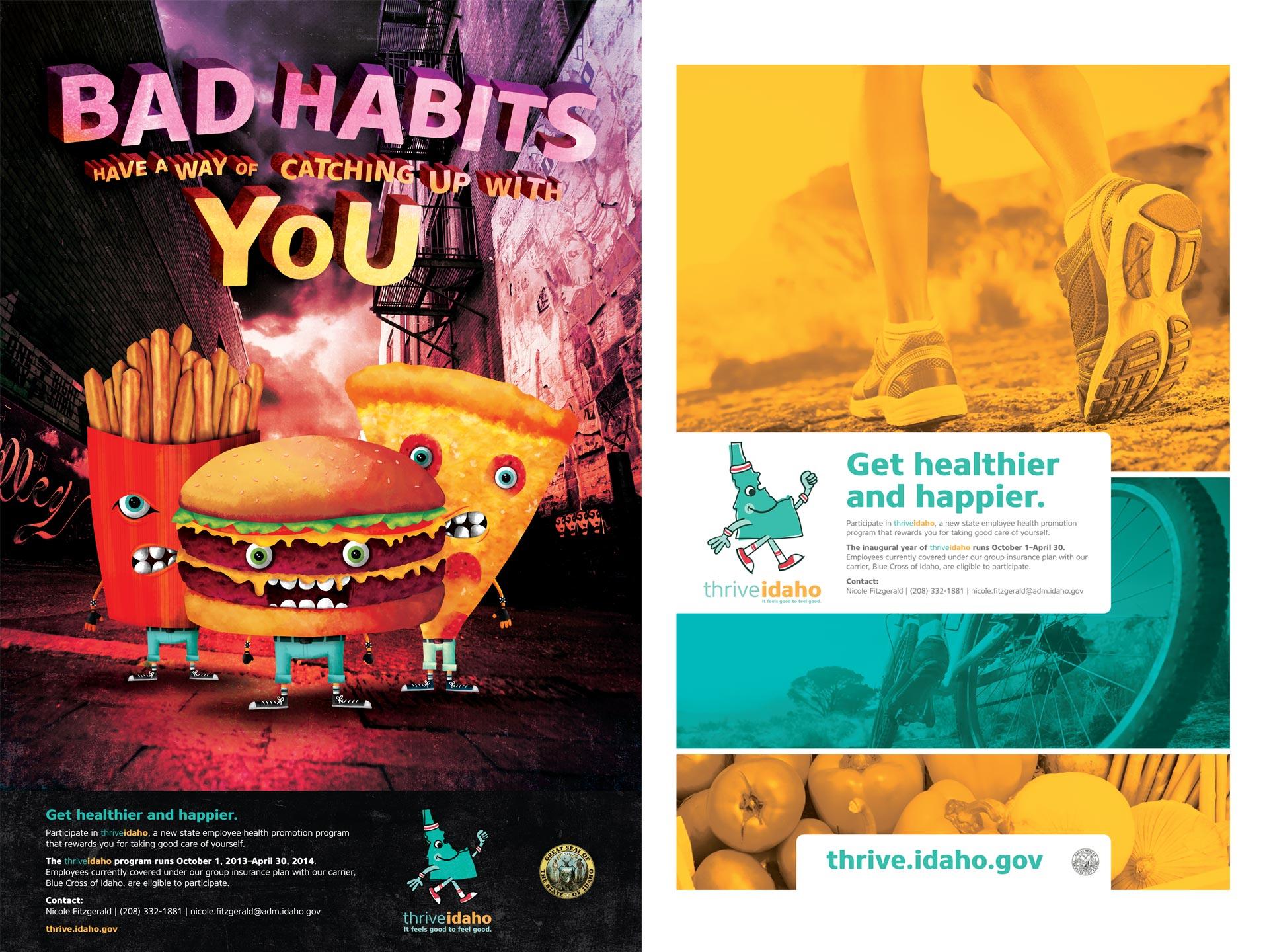 Idaho Office of Group Insurance thrive Idaho campaign branding