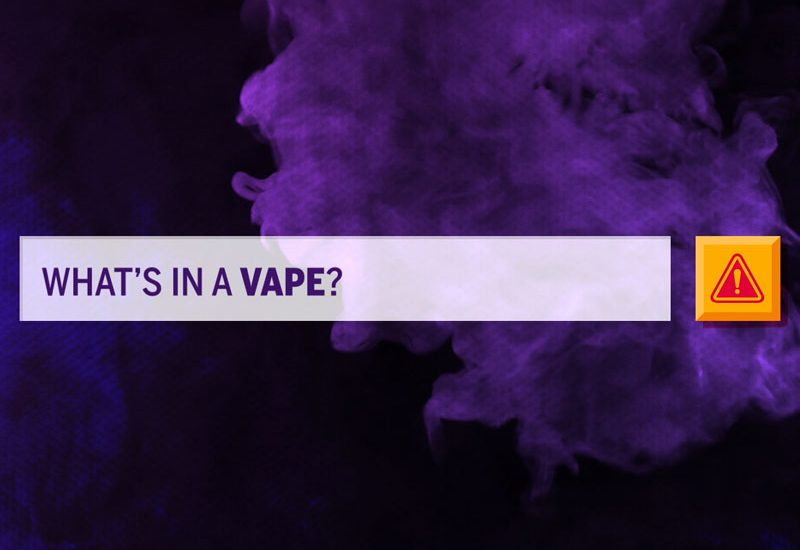 what's in a vape graphic